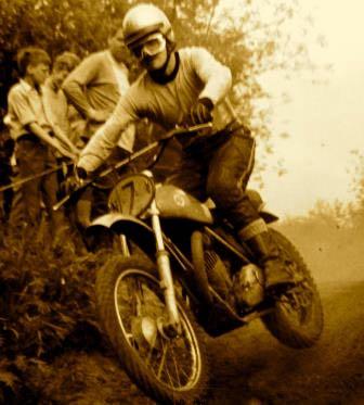 1969 AJS 250 cc Dutch rider Henk Vosters