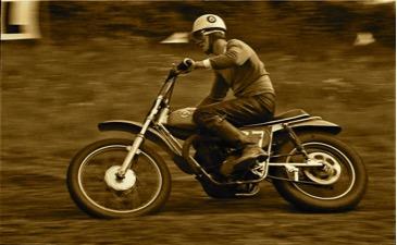 AJS Scrambler Malcolm Davis 1968