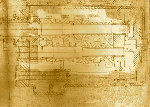 John Favill 6-speed drawing